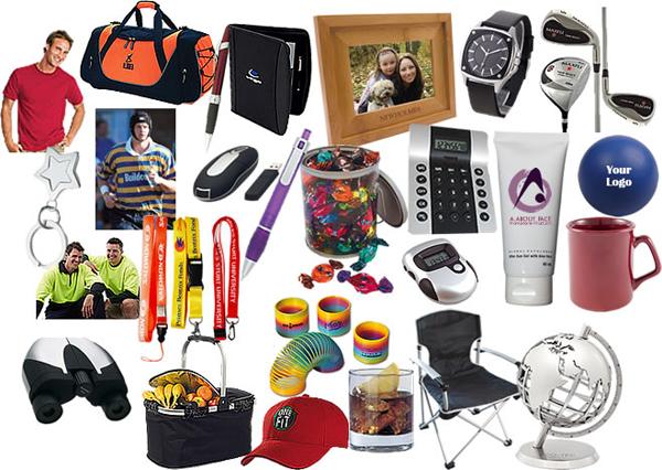 En goodiebag av användbara profilprodukter